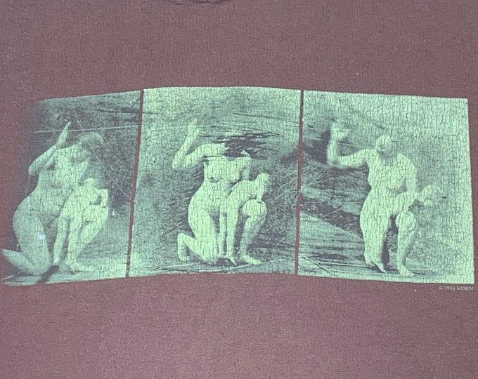 L * vtg 90s 1995 KORN self titled era t shirt * 108.35 nu metal
