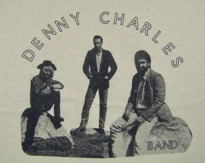 M/L * vtg 80s random band Denny Charles t shirt * medium large * 34.167