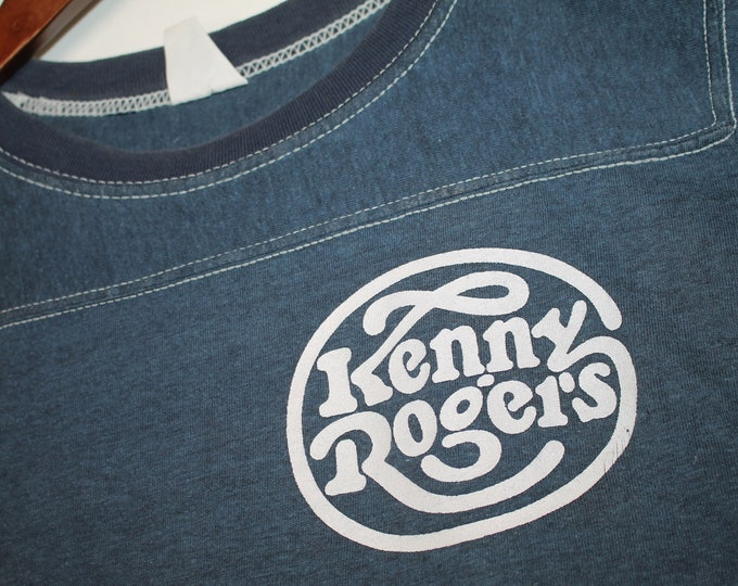 XS * vtg early 80s Kenny Rogers concert tour Crew t shirt jersey * classic country music * 103.24