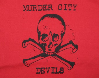 womens S * nos vtg 90s Murder City Devils spaghetti strap camisole shirt * tank top * 14.165