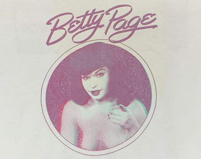 XL * vtg 80s 1989 Betty Page comic book 3D Zone t shirt * 93.55