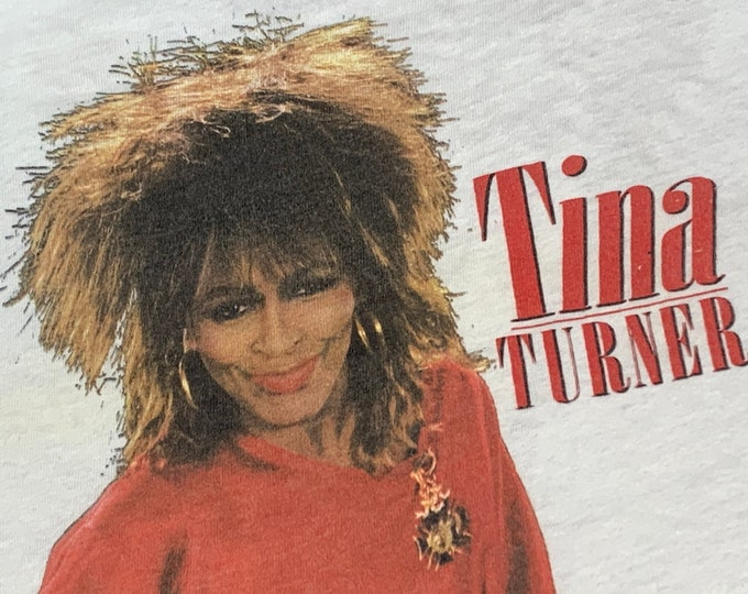 M/L * vtg 80s 1984 Tina Turner private dancer t shirt * medium large * 55.150