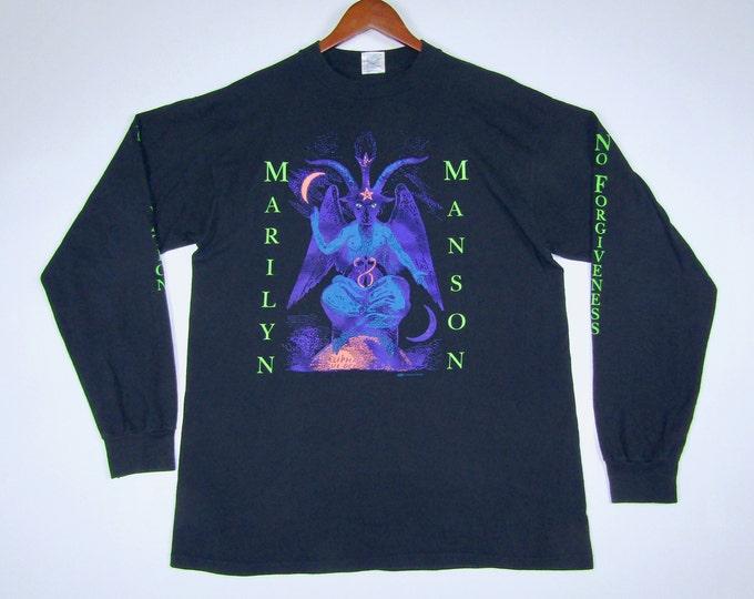 XL * vtg 90s 1996 Marilyn Manson Baphomet winterland When I'm God Everyone Dies long sleeve t shirt *