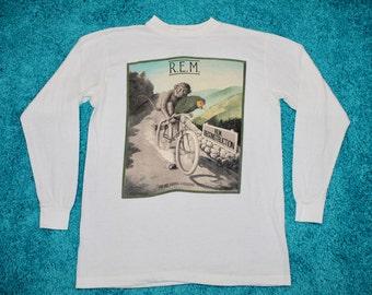 M * thin vtg 80s 1985 R.E.M. fables of the reconstruction longsleeve tour t shirt * 48.149 rem