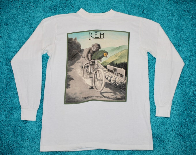 M * thin vtg 80s 1985 R.E.M. fables of the reconstruction longsleeve tour t shirt * 48.149 rem