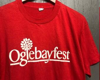 L vtg 80s Oglebayfest screen stars t shirt* oglebay West Virginia