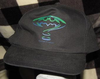 NOS vtg 90s 1995 Batman Forever movie promo snapback hat * dc comic