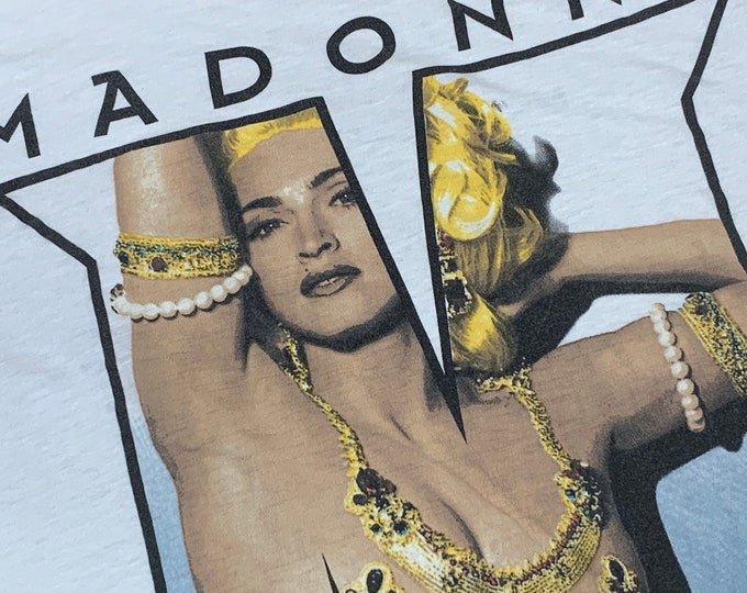 L * vtg 90s 1992 Madonna erotica t shirt * boy toy tour * 84.106