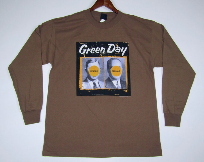 XL * NOS vtg 90s 1998 Green Day nimrod long sleeve tour t shirt * GDS/3.189