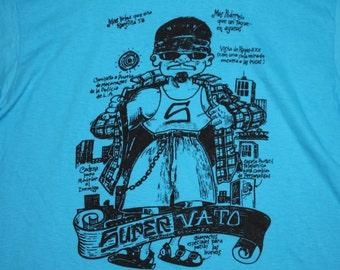 M/L * NOS vtg 80s/90s Super Vato t shirt * chicano mexican * medium large * 103.9
