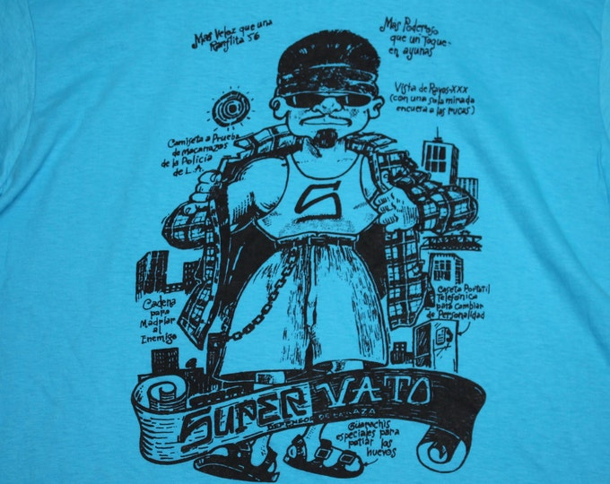 M/L * NOS vtg 80s/90s Super Vato t shirt * chicano mexican * medium large * 103.9
