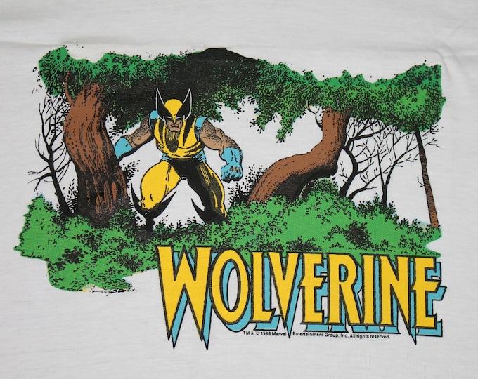 S * NOS vtg 80s 1988 Wolverine marvel comic t shirt * 96.25