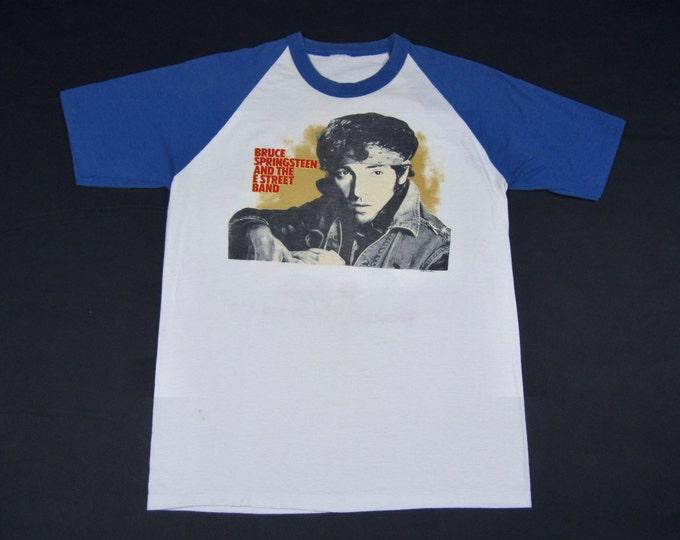 L * vtg 80s 1984 1985 Bruce Springsteen s/s raglan tour t shirt * 85.73