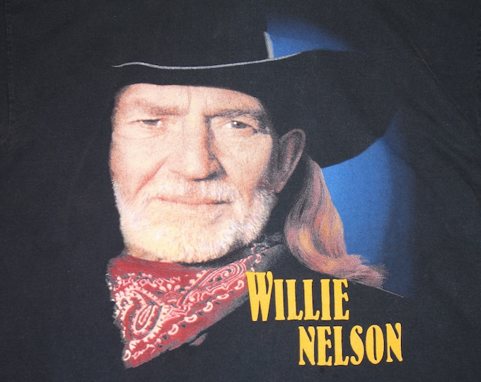 L * vtg 90s 1998 Willie Nelson greatest hits t shirt * 32.202 classic country music
