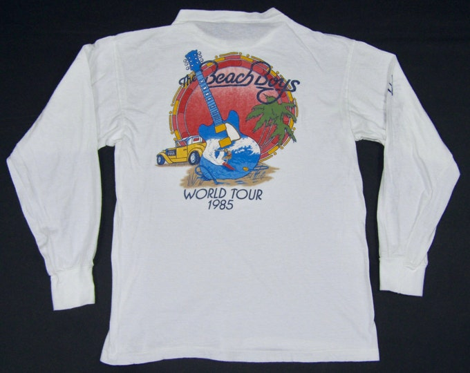 S/M * thin vtg 80s 1985 The Beach Boys long sleeve tour t shirt * concert small medium * 72.143