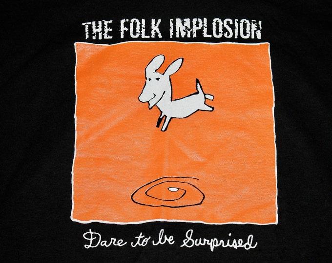 XL * NOS vtg 90s 1997 The Folk Implosion dare to be surprised t shirt * lou barlow dinosaur jr sebadoh * 25.148
