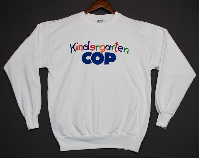 L/XL * NOS vtg 1990 Kindergarten Cop movie promo sweatshirt * shirt schwarzenegger * 170.23