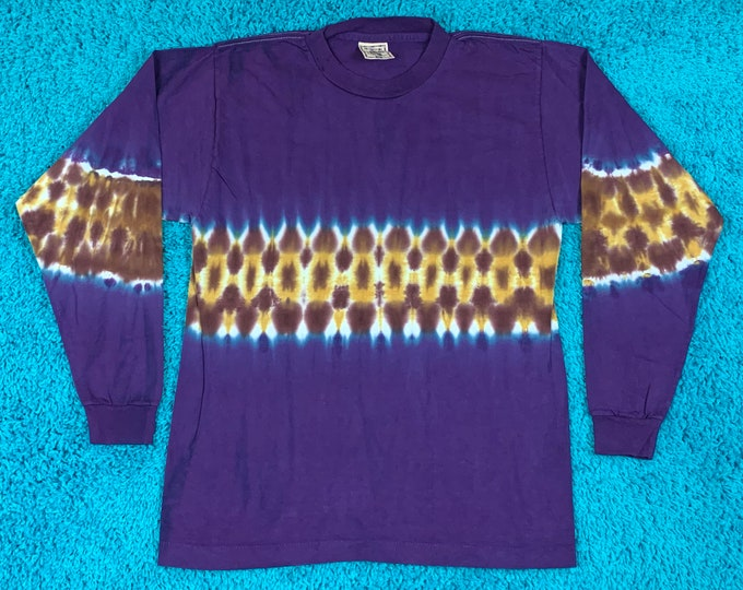 M * nos vtg 90s tie dye t shirt * single stitch * 61.149