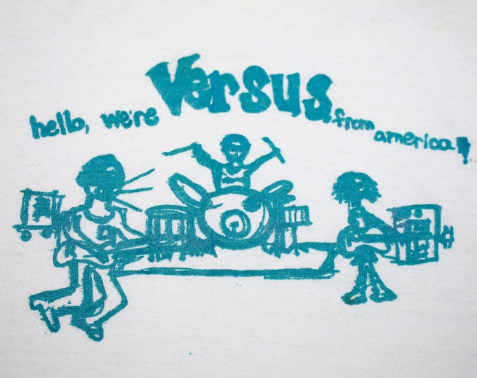 L * Trashed vtg 90s Versus t shirt * indie band teenbeat * 57.164