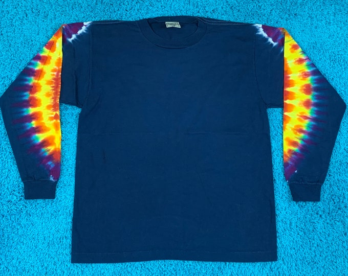 M * nos vtg 90s tie dye t shirt * single stitch * 61.144