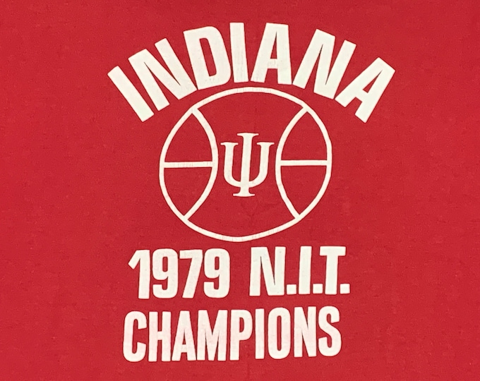 M/L * vtg 70s 1979 Indiana Hoosiers basketball t shirt * 67.126