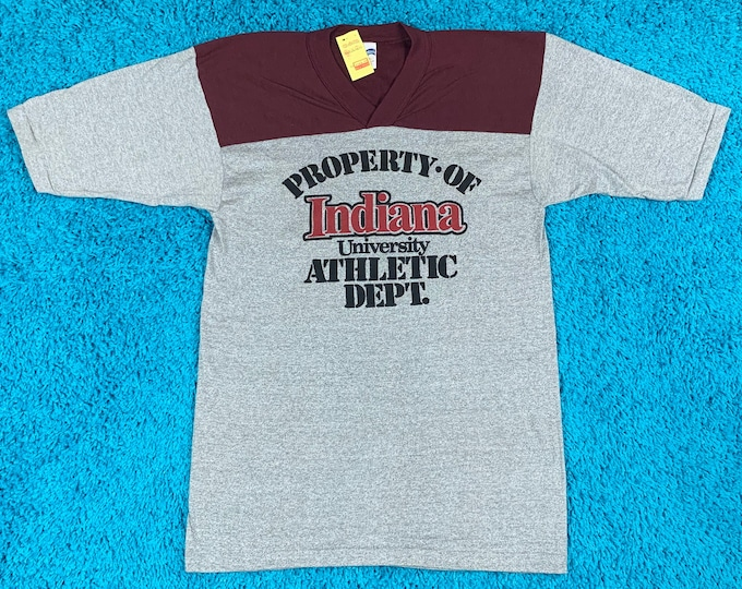 S * nos vtg 70s / 80s Indiana Hoosiers t shirt jersey * university * 67.130
