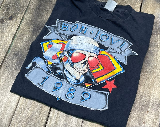 S * vintage 80s 1989 Bon Jovi back and kickin ass t shirt * 89.83