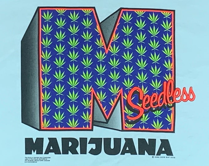 XL * nos vtg 90s Marijuana parody t shirt * weed rap pot drug * 32.208