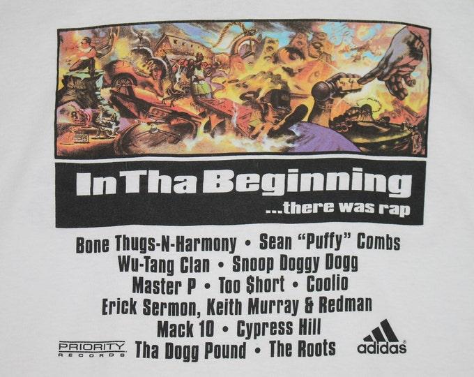 XL * vtg 90s 1997 In Tha Beginning There Was Rap adidas t shirt * wu tang clan master p redman snoop dogg puff daddy bone thugs too short