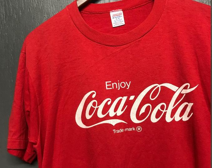 L vintage 80s 1987 Enjoy Coca Cola t shirt * coke birmingham Alabama