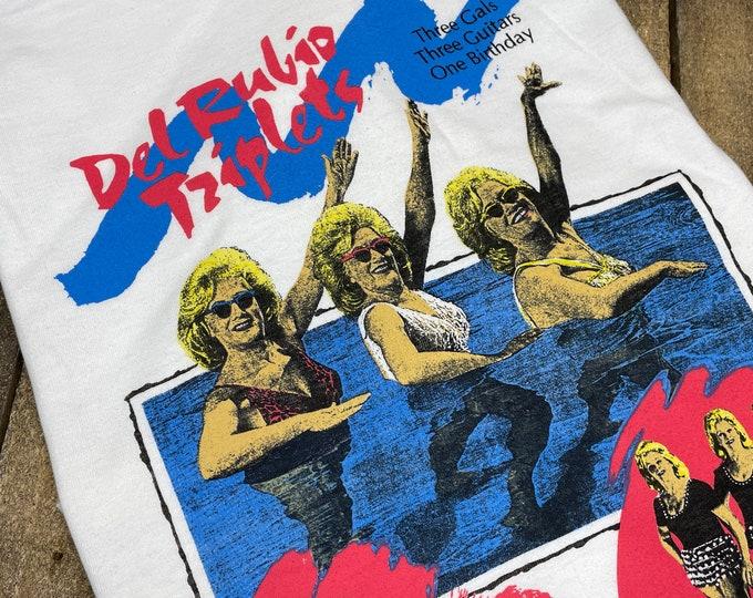 M * deadstock vtg 90s Del Rubio Triplets t shirt * pee wee herman the cramps movie tour
