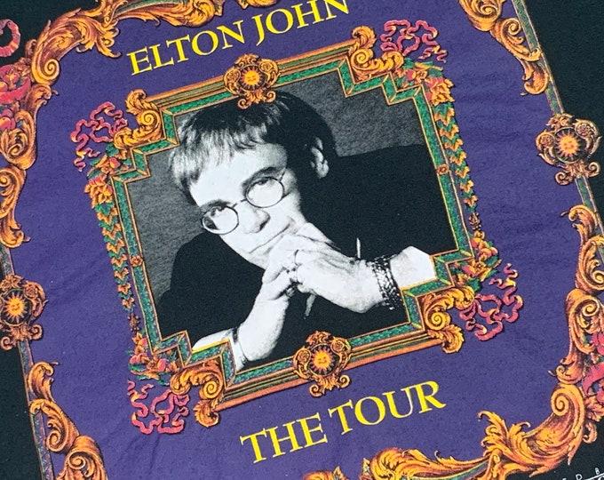XL * vtg 90s 1994 Versace Elton John tour t shirt * 55.156