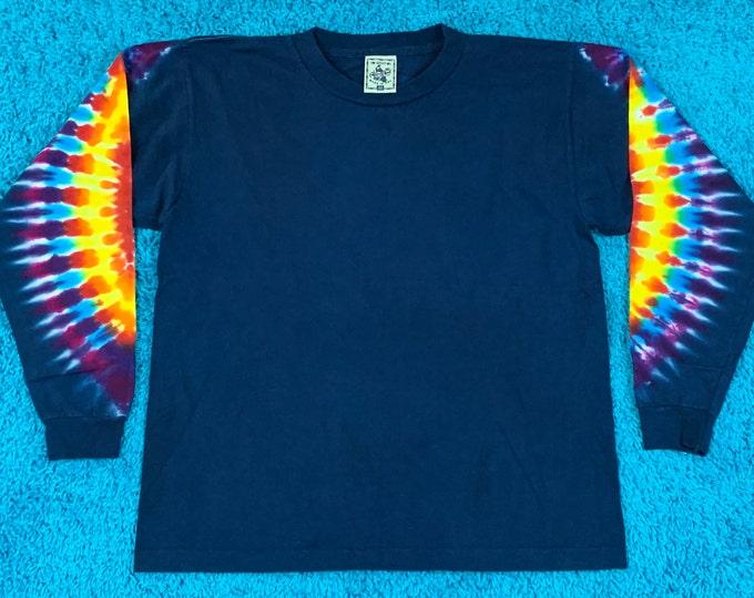 M * nos vtg 90s tie dye single stitch t shirt * 76.133