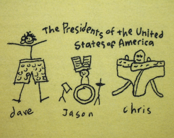 XL * vtg 90s PUSA t shirt * the presidents of the united states of america * 34.163