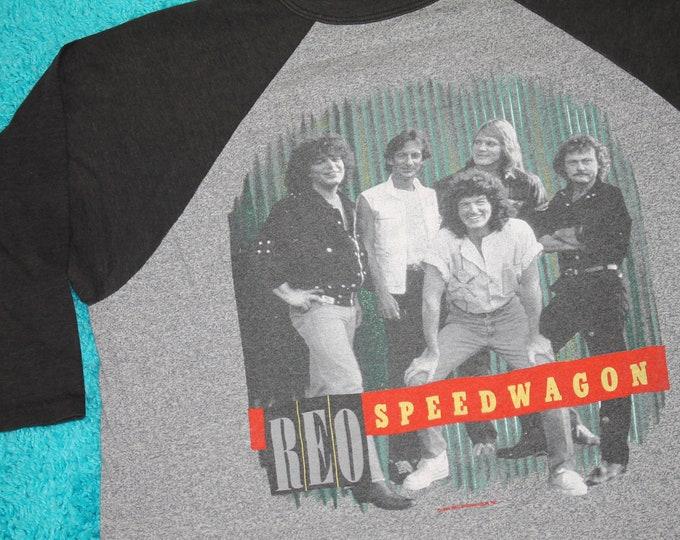 M/L * vtg 80s 1984 REO Speedwagon raglan tour t shirt * medium large * 35.139