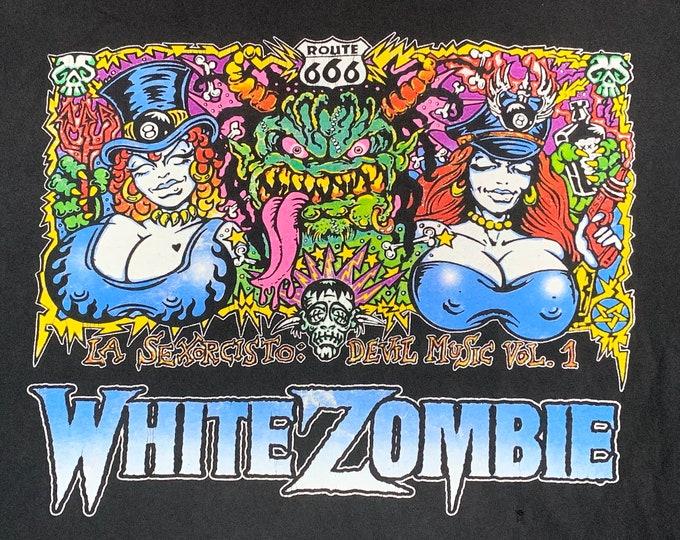 XL * vtg 90s 1993 White Zombie la sexorcisto devil music tour t shirt * 93.50 rob art