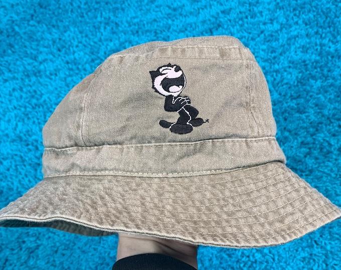 S/M * nos vtg 90s Felix the Cat bucket hat * small medium cartoon movie comic t shirt
