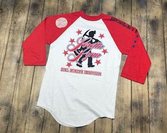 S/M * vintage 80s Loretta Lynn deadstock raglan tour t shirt * small medium * 100.61
