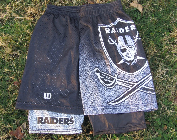 S * NOS vtg 90s 1992 Los Angeles Raiders Pro Line 2 layer shorts * SS30 * matches t shirt Oakland
