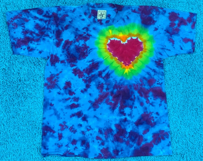 M * nos vtg 90s tie dye t shirt * single stitch * 63.173