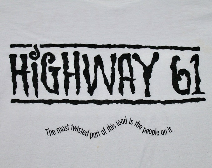 XL * vtg 90s 1991 HIGHWAY 61 movie promo t shirt * 13.151