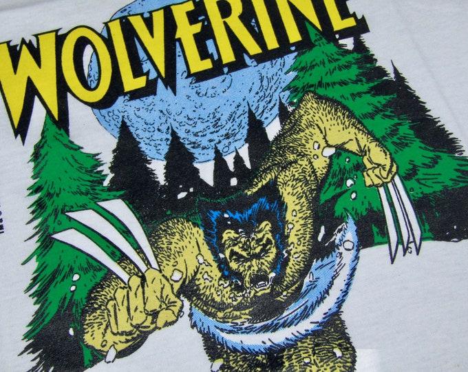 M * NOS thin vtg 80s 1989 Wolverine marvel comic t shirt * 39.183
