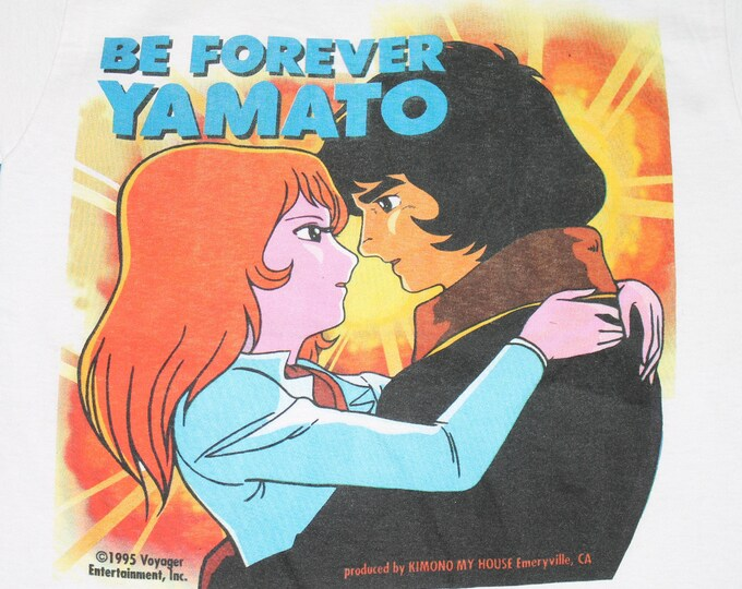 S * NOS vtg 90s 1995 Star Blazers Space Battleship Yamato anime t shirt * manga cosmoship * 62.165