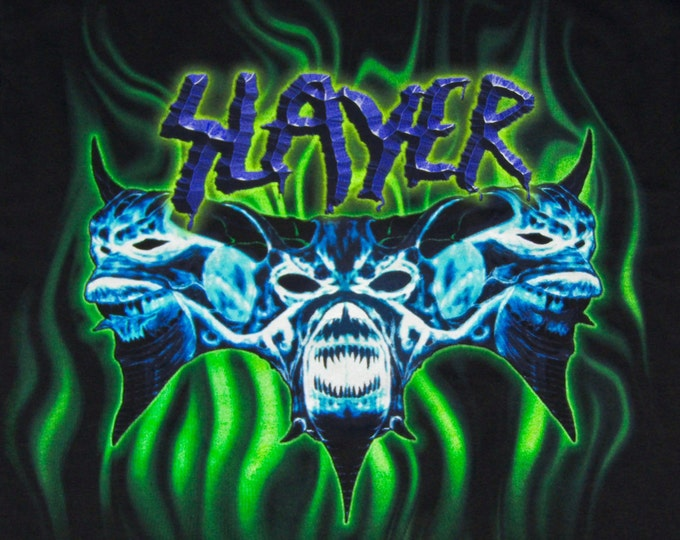L/XL * NOS vtg 90s 1998 Slayer t shirt * diabolus in musica * 83.145