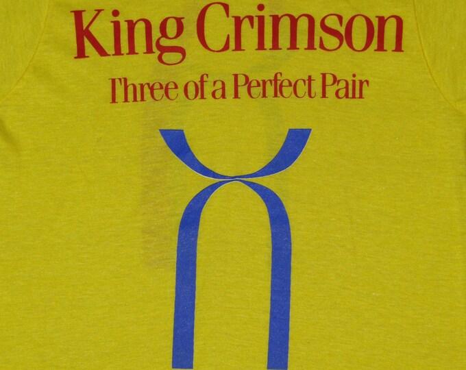 S * nos thin vtg 80s 1984 King Crimson three of a perfect pair t shirt * prog rock * 103.34