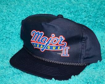 NOS vtg 90s 1994 Major League II movie promo snapback hat * charlie sheen
