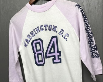 S vtg 80s 1984 Washington DC raglan tourist t shirt