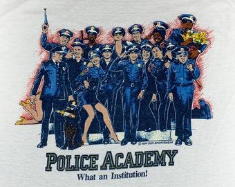 S/M * vtg 80s 1984 Police Academy movie promo t shirt * small medium * 70.141