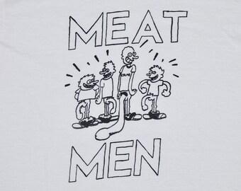 S * vtg 1990 the Meatmen t shirt * punk * 28.165