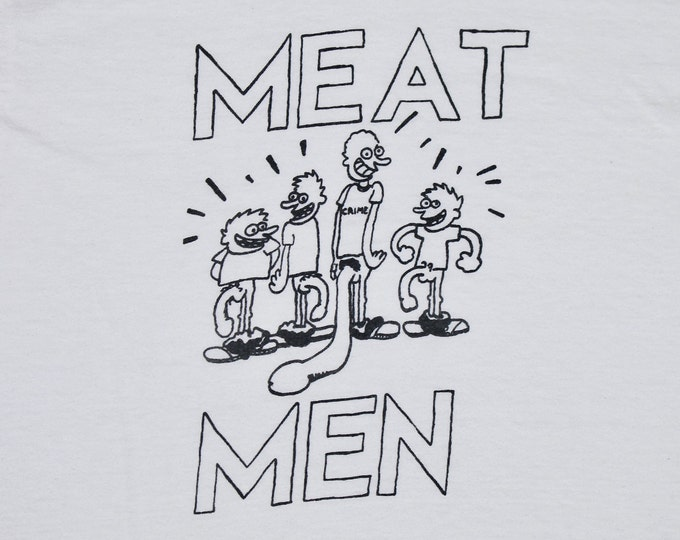S * vtg 1990 the Meatmen t shirt * punk * 28.165